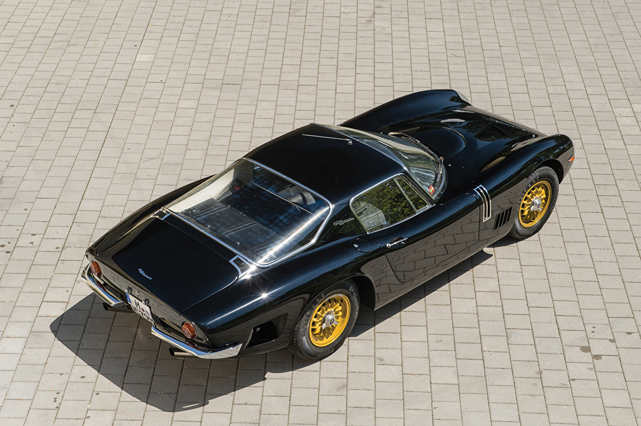 Bizzarrini Ретро 1966-67 5300 GT Strada Bertone Черный Металлик Сверху Авто, Машины, Биззарини, Винтаж, старинные, вид Автомобили