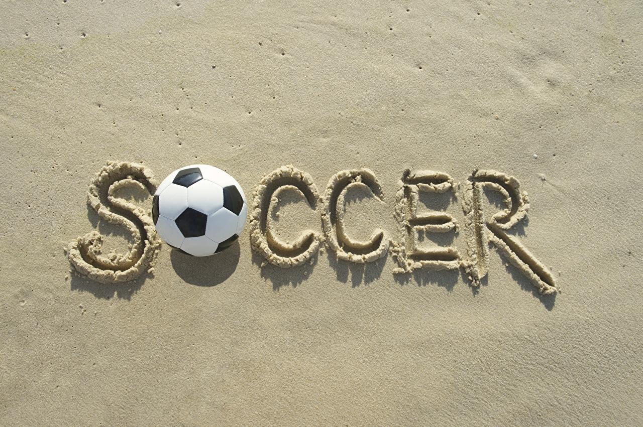 Фотографии инглийские Soccer Спорт Футбол Песок Мяч Английский английская спортивный спортивная спортивные песке песка Мячик