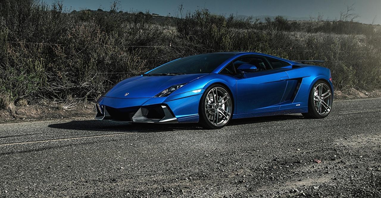 Картинка Lamborghini 2015 gallardo роскошная Синий Автомобили Ламборгини дорогие дорогой дорогая люксовые Роскошные роскошный синих синие синяя авто машина машины автомобиль