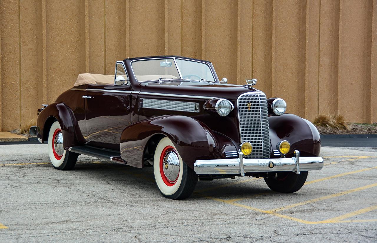 Фото Кадиллак 1937 Series 60 Convertible Coupe by Fisher Кабриолет Ретро бордовая машина Металлик Cadillac кабриолета Винтаж бордовые Бордовый старинные темно красный авто машины автомобиль Автомобили