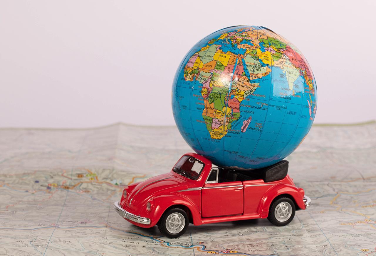 Фотографии Глобус кабриолета Игрушки глобусы глобусом Кабриолет игрушка