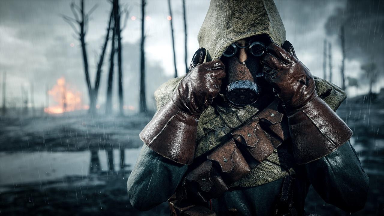 Фото Battlefield 1 Противогаз Перчатки 3D Графика Игры