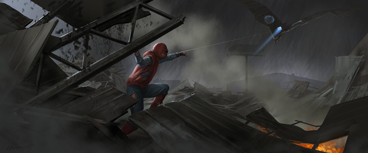 Фотография Человек-паук: Возвращение домой Герои комиксов Человек паук герой Vulture Кино Фильмы