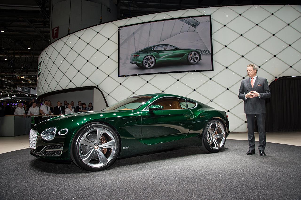 Обои Bentley 2015 EXP 10 Speed 6 Роскошные зеленые Металлик Автомобили Бентли дорогие дорогой дорогая люксовые роскошная роскошный зеленых Зеленый зеленая авто машина машины автомобиль