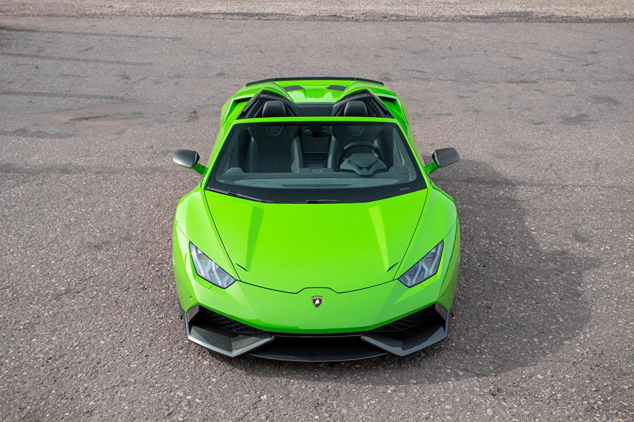 Фотография Lamborghini Novitec Torado Родстер салатовые Машины Спереди Ламборгини салатовая Салатовый желто зеленый Авто Автомобили