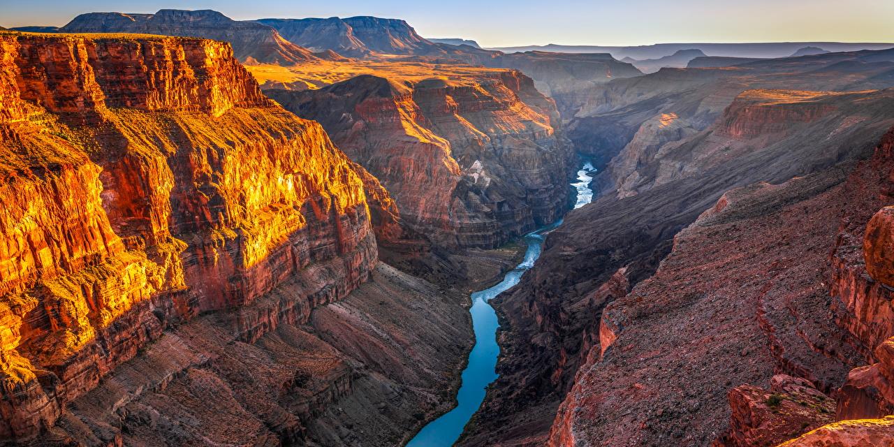 Фото Гранд-Каньон парк США Arizona скале Каньон Природа парк штаты америка Утес Скала скалы каньона каньоны Парки