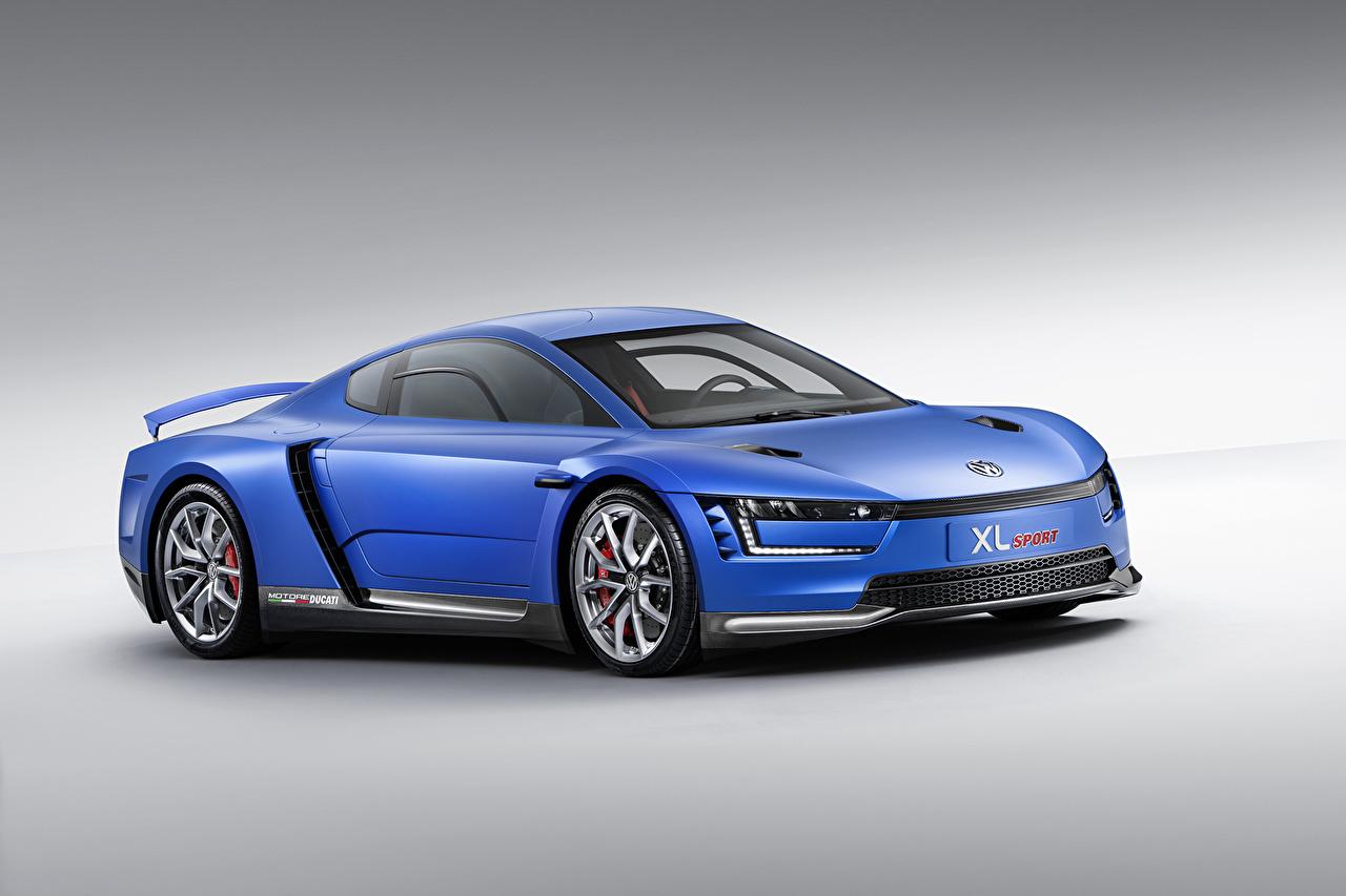 Фотографии Стайлинг Фольксваген 2014 XL Sport голубые Автомобили Volkswagen Тюнинг голубая Голубой голубых авто машины машина автомобиль