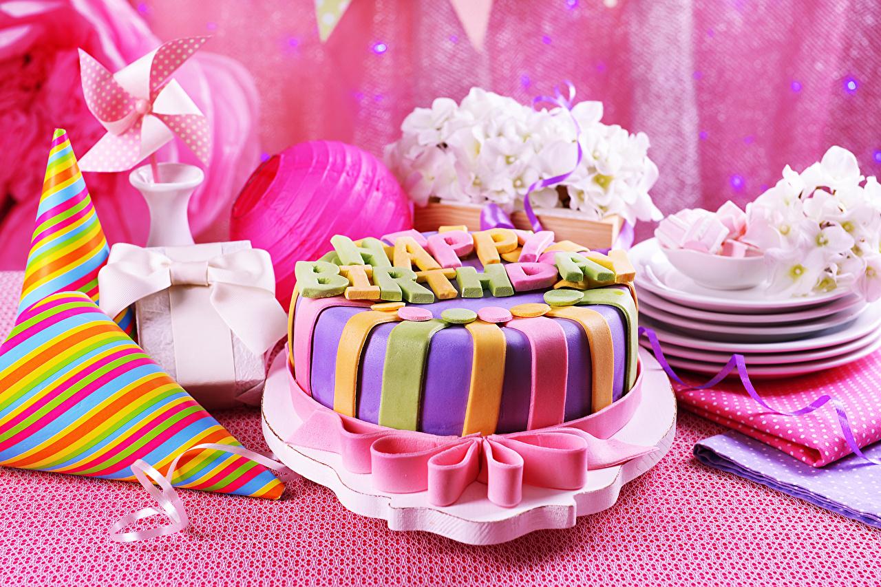 Обои для рабочего стола День рождения Торты Пища Праздники Еда Продукты питания