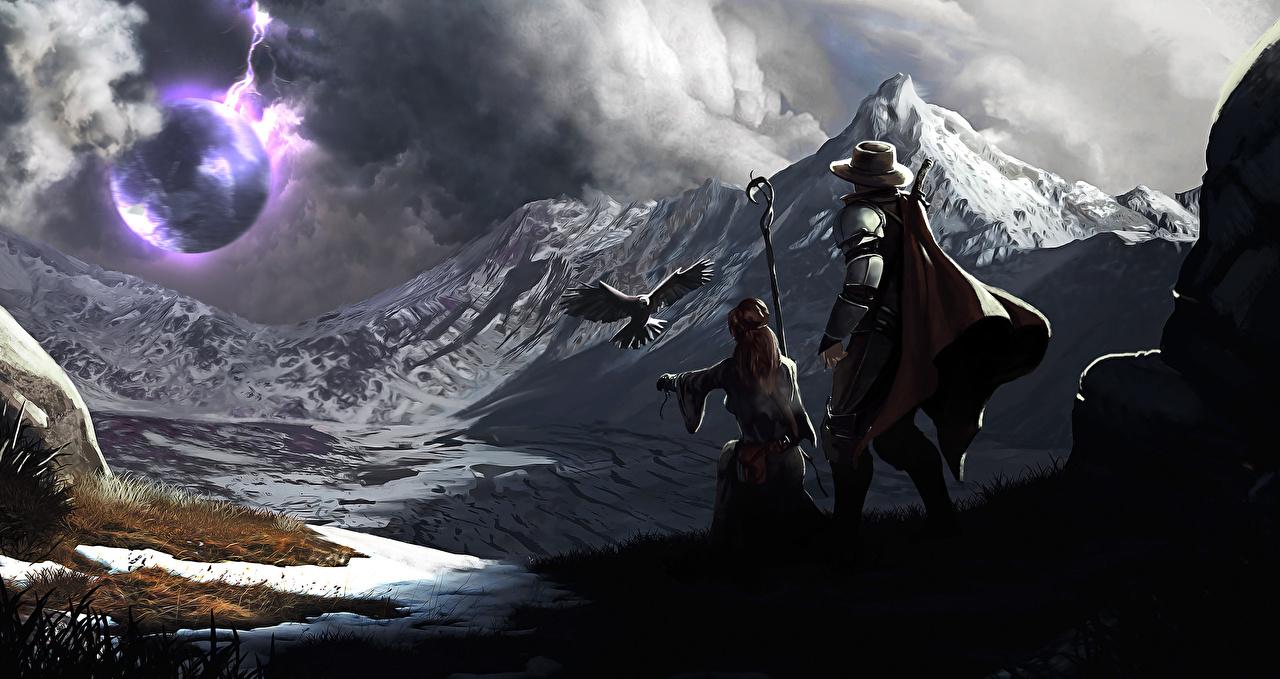Картинки сфера Горы Фэнтези Фантастический мир Фантастика
