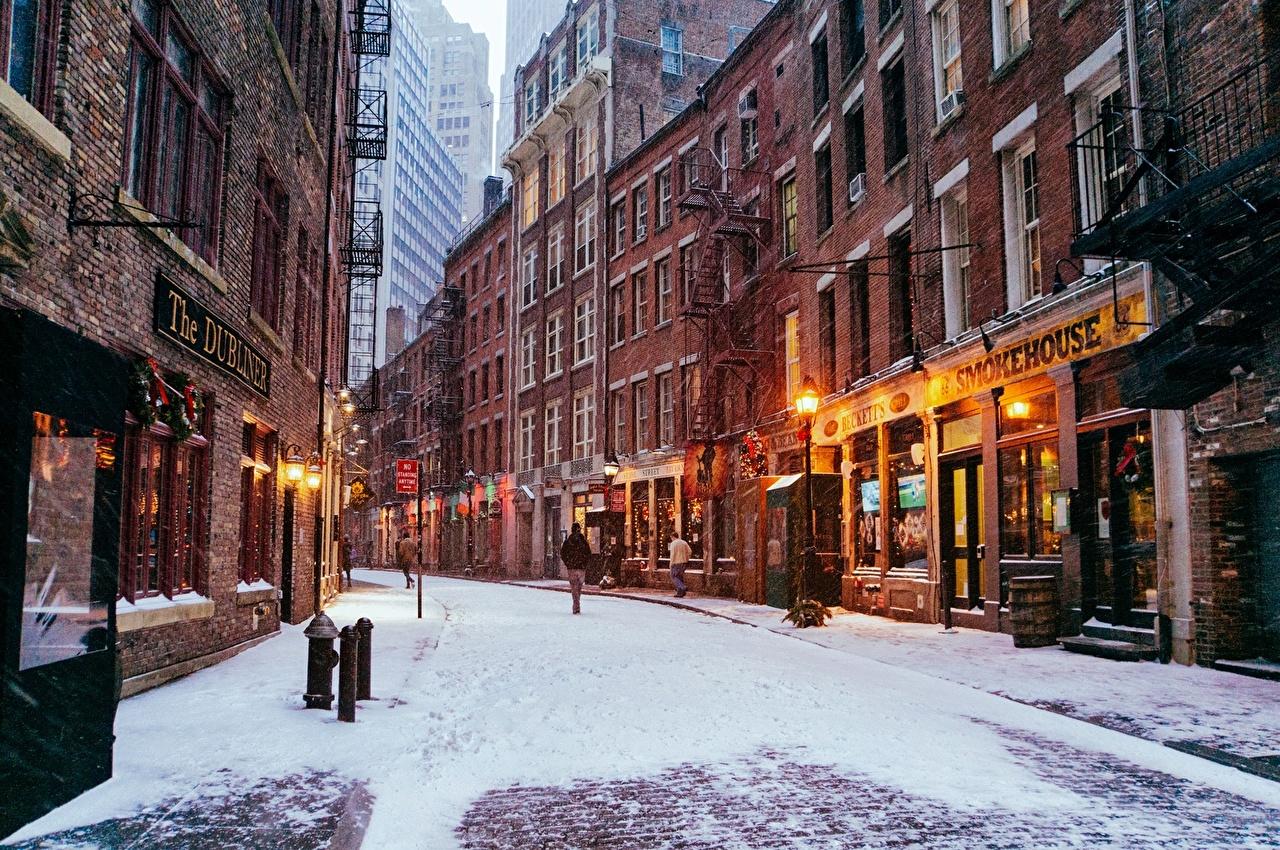 фотографии зимнего нью-йорка