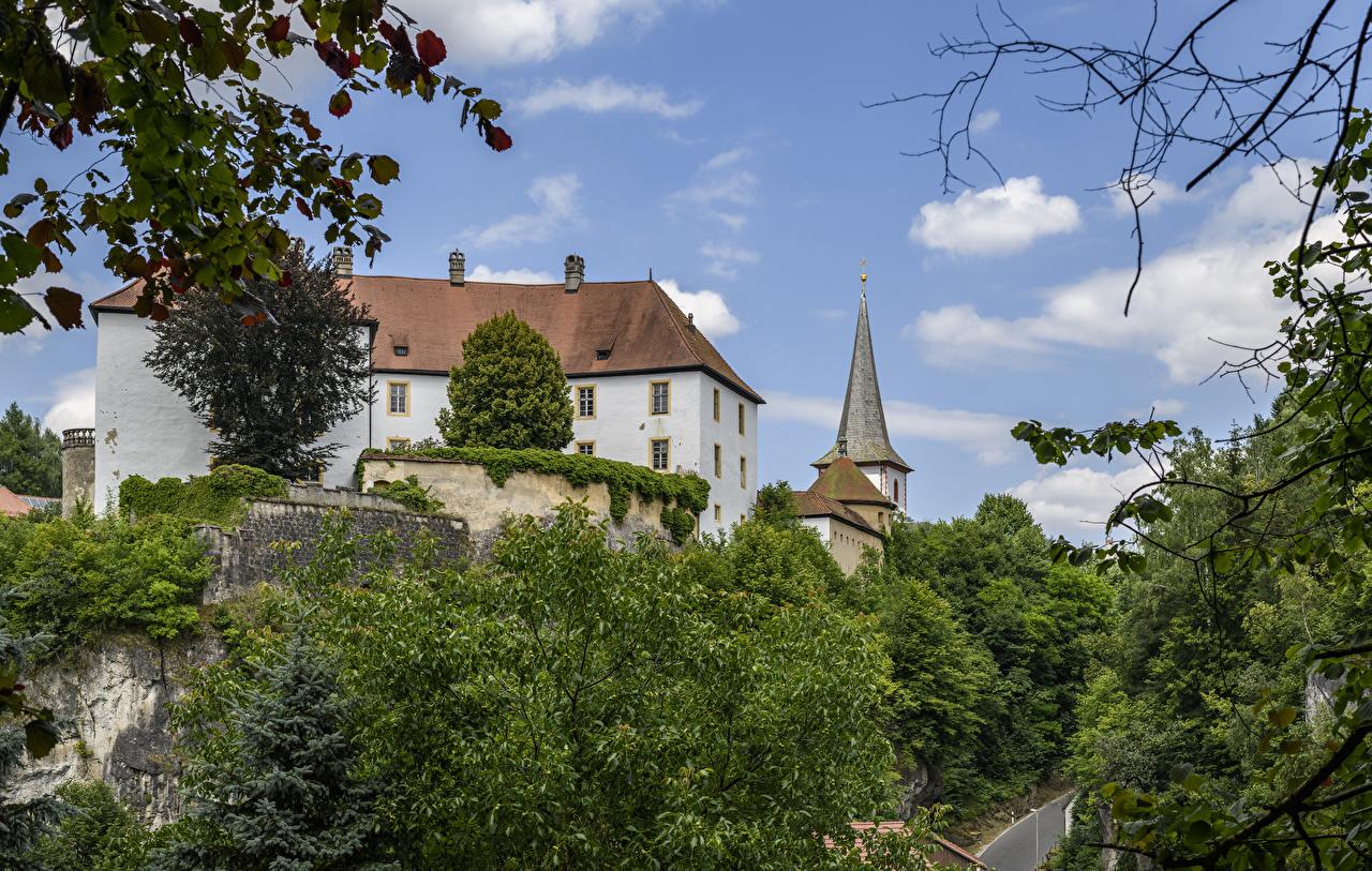 Фотографии Германия Schloss Freienfels Замки город Города