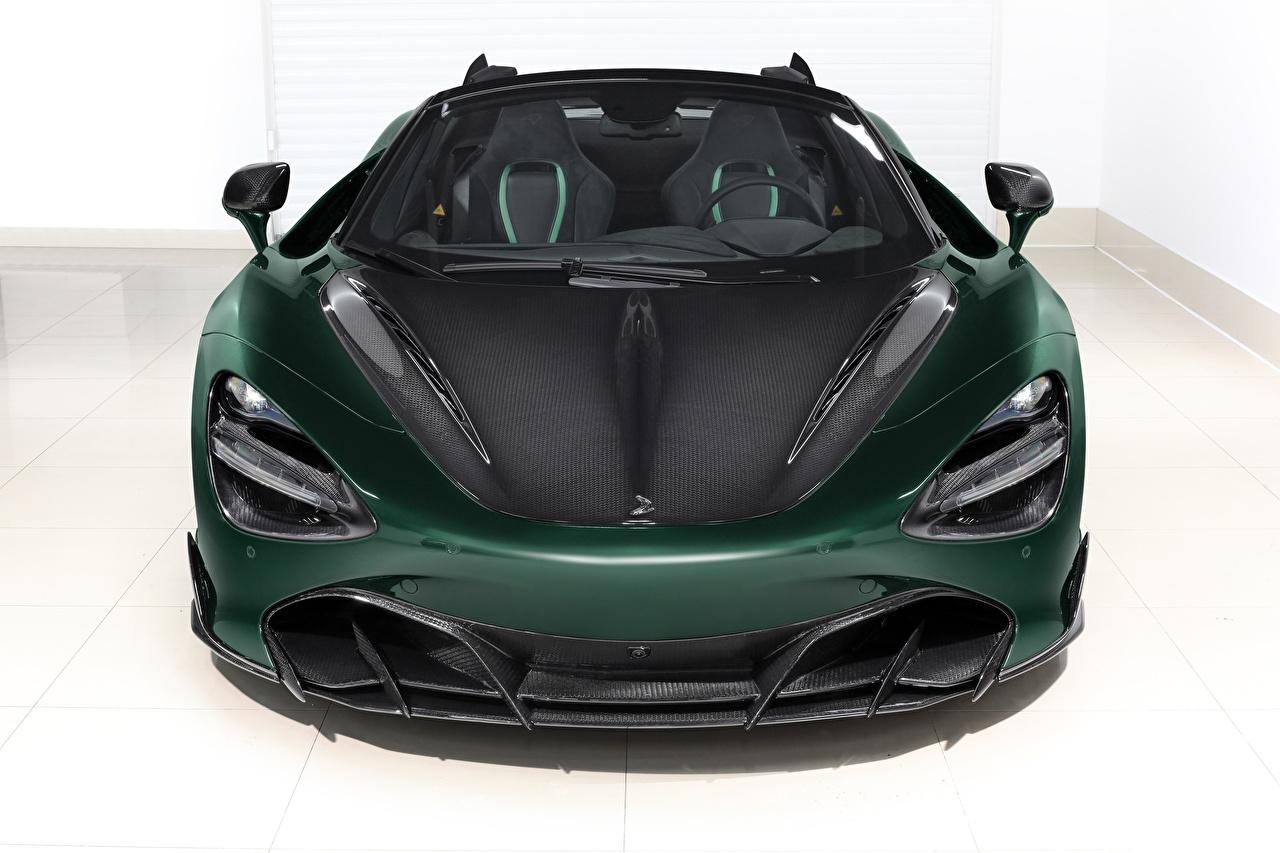 Картинка Макларен Углепластик Spider, TopCar, Fury, 2020, 720S зеленых машина Спереди McLaren Карбон карбоновый карбоновая карбоновые зеленая зеленые Зеленый авто машины Автомобили автомобиль