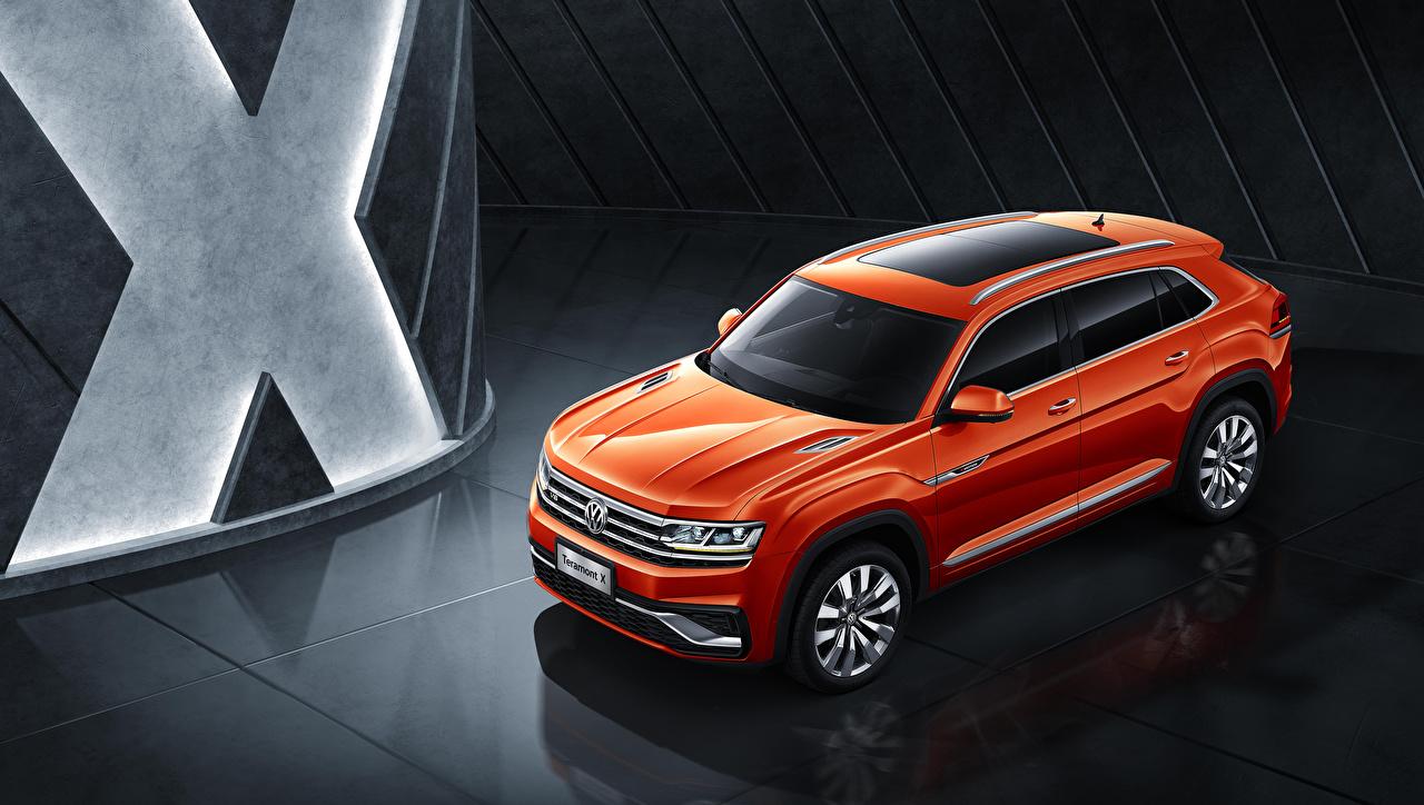 Фото Фольксваген 2019 Volkswagen Teramont X оранжевых машина Оранжевый оранжевые оранжевая авто машины автомобиль Автомобили