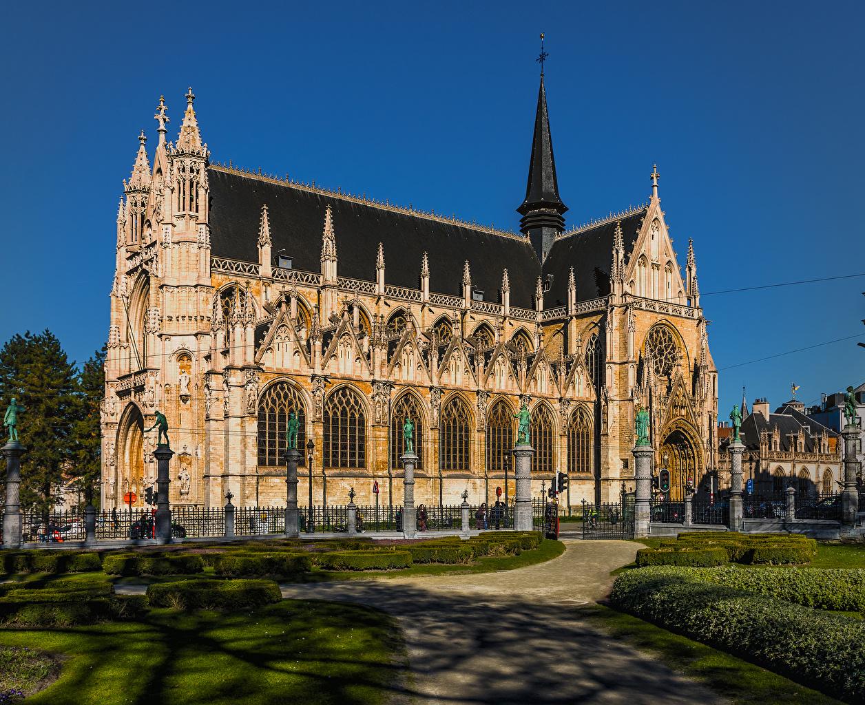 Фото Церковь Бельгия Brussels храм Города Храмы город