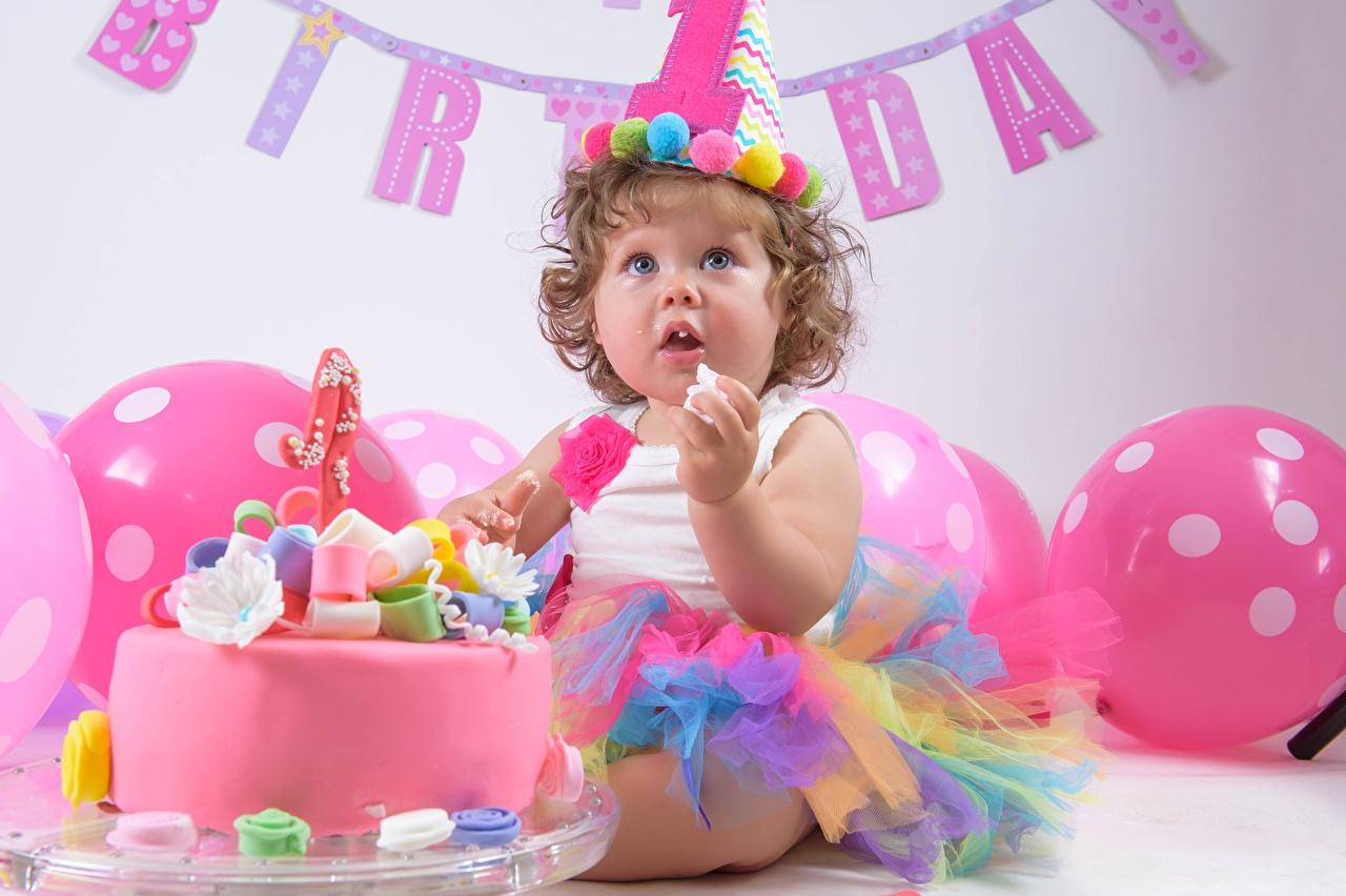 Фото Девочки День рождения Дети Торты Праздники девочка ребёнок