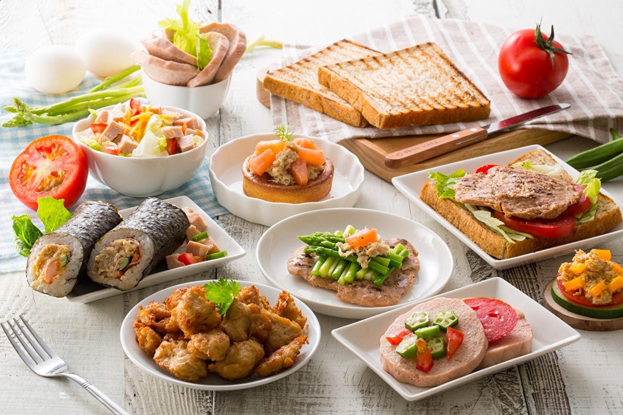 Фото Завтрак Хлеб бутерброд Овощи Продукты питания Бутерброды Еда Пища