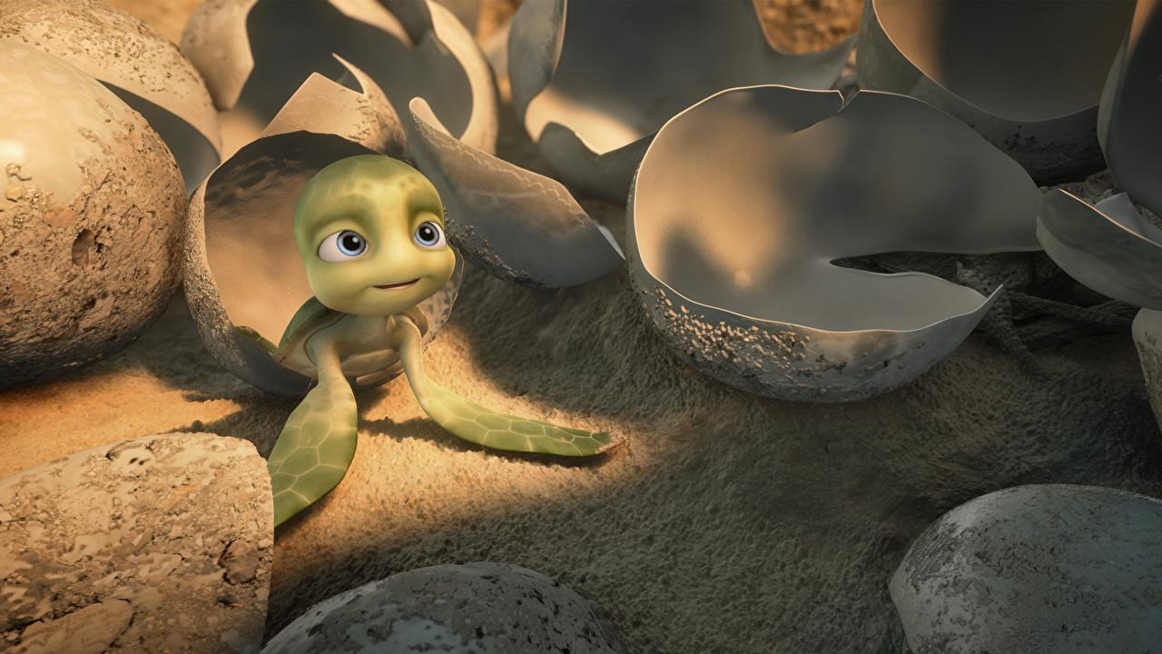 Фотография Черепахи A Turtle's Tale: Sammy's Adventures Яйца 3D Графика Мультфильмы яиц яйцо яйцами 3д мультик Мультики