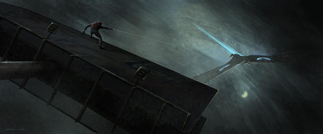 Картинка Человек-паук: Возвращение домой Герои комиксов Человек паук герой Vulture кино супергерои Фильмы