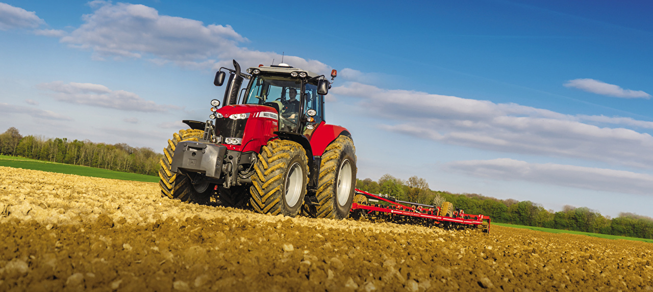 Картинки Трактор 2014-17 Massey Ferguson 7726 Worldwide Поля