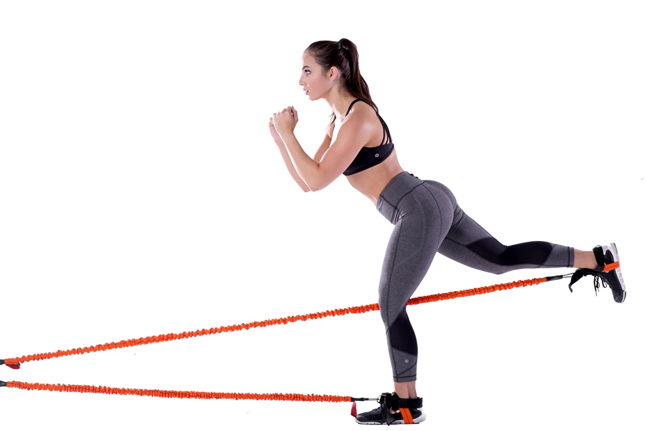 Картинки Попа тренируется Фитнес Девушки спортивные Ноги Белый фон ягодицы Тренировка физическое упражнение Спорт девушка спортивная спортивный молодая женщина молодые женщины ног белом фоне белым фоном