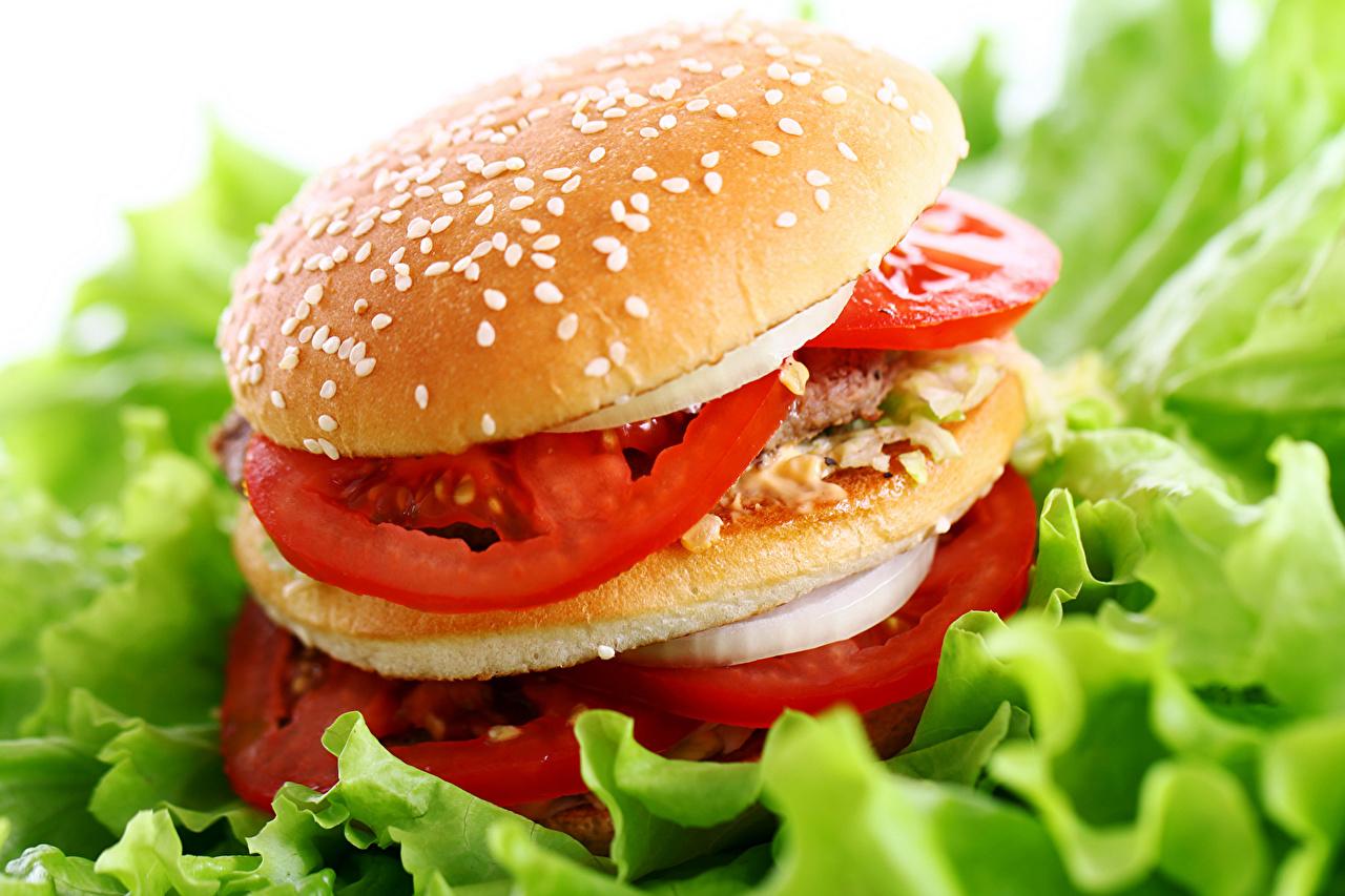 Обои для рабочего стола Гамбургер Булочки Быстрое питание Еда Фастфуд Пища Продукты питания