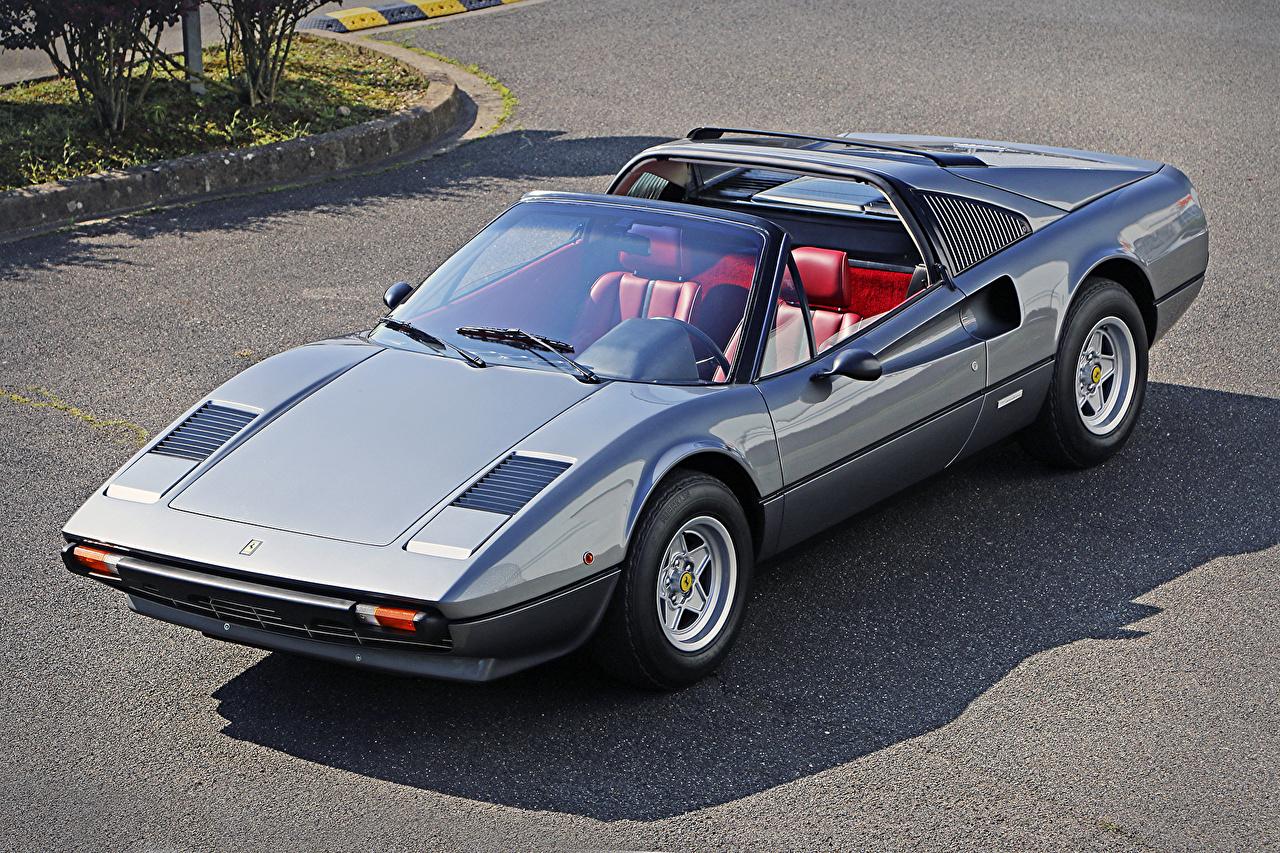 Фотографии Автомобили Феррари 1977-80 308 GTS Worldwide Металлик старинные Pininfarina кабриолета авто машина машины автомобиль Ferrari Ретро винтаж Кабриолет
