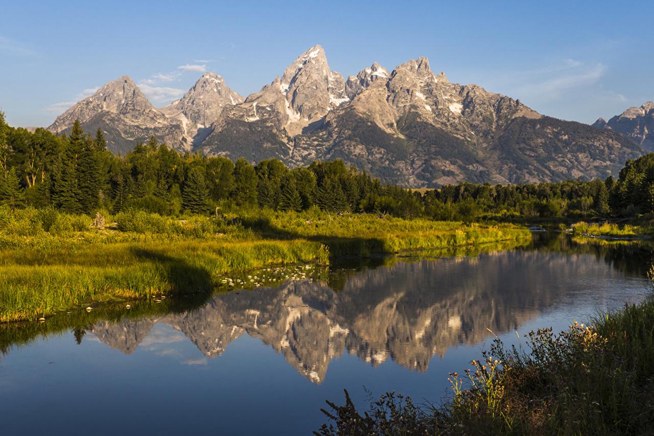 Обои Гранд-Каньон парк США Горы Природа Леса Парки речка штаты Реки