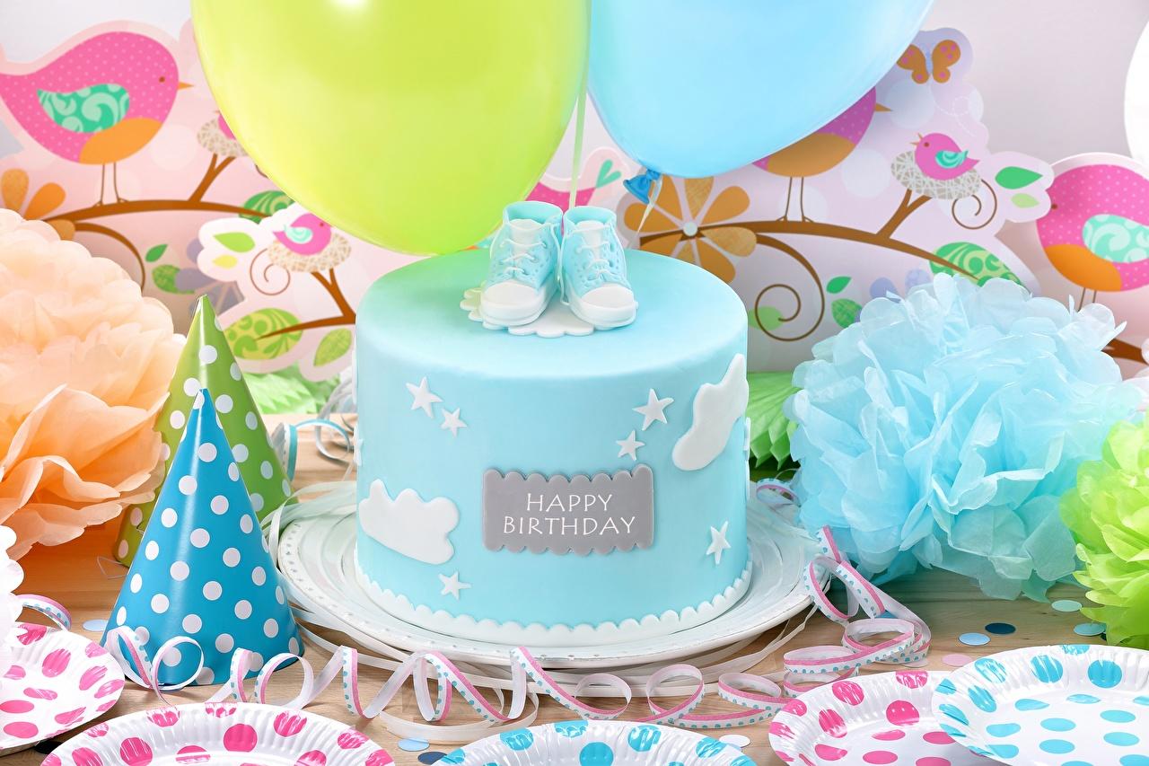 Картинка День рождения Торты Пища Праздники Еда Продукты питания