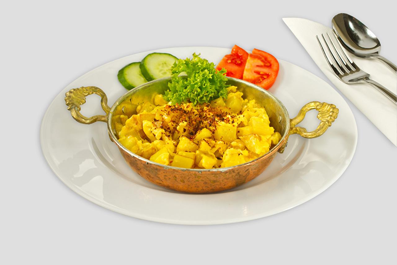 Фотографии Картофель Овощи тарелке Продукты питания картошка Еда Пища Тарелка