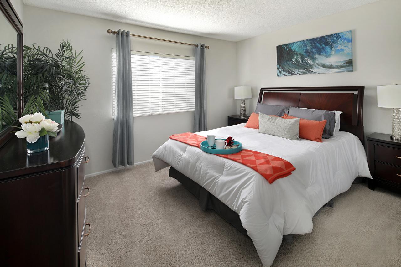 Картинки спальни Интерьер постель Подушки Дизайн Спальня спальне Кровать кровати подушка дизайна