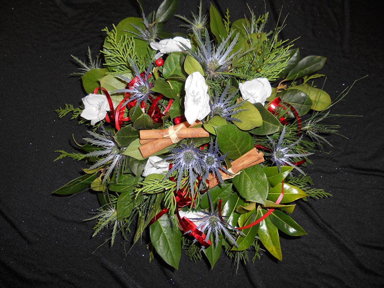 Фото Листва Букеты Цветы Анемоны лист Листья букет цветок Ветреница