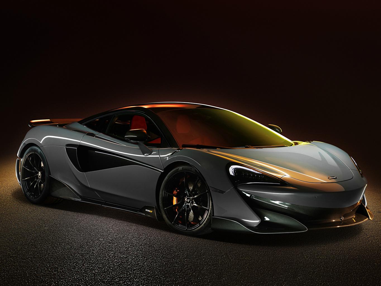 Фото Макларен 2018 600LT Worldwide серые машина Металлик McLaren Серый серая авто машины автомобиль Автомобили