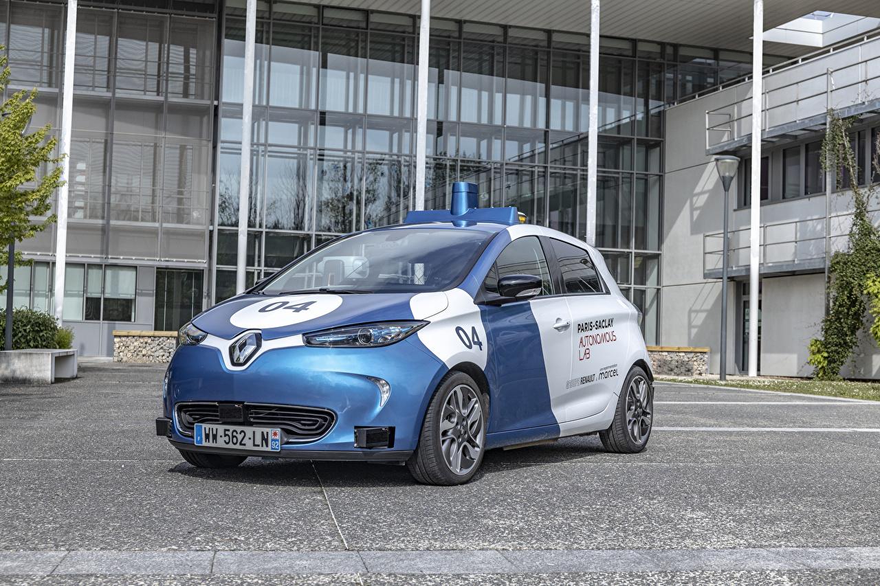 Картинка Renault Тюнинг Полицейские 2019 ZOE Cab машины Рено Стайлинг полицейский полицейская полицейский авто машина автомобиль Автомобили