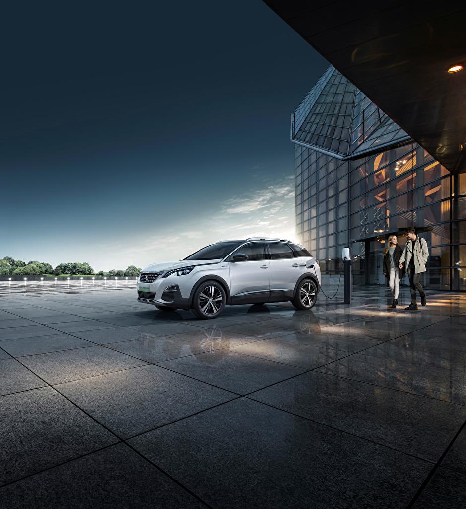 Фото Пежо Кроссовер 4008 PHEV 4WD, 2020 авто Металлик  для мобильного телефона Peugeot CUV машина машины Автомобили автомобиль