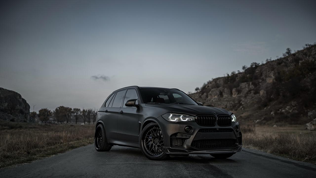 Фотография БМВ X5M Z Performance черных машина BMW Черный черные черная авто машины автомобиль Автомобили