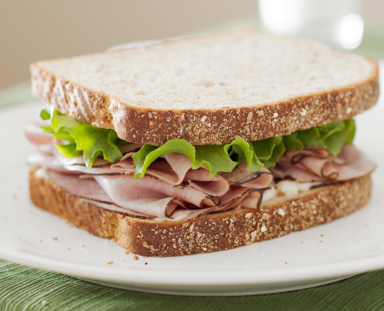 Фото Продукты питания Хлеб Фастфуд Ветчина Бутерброды Сэндвич Еда Пища бутерброд Быстрое питание