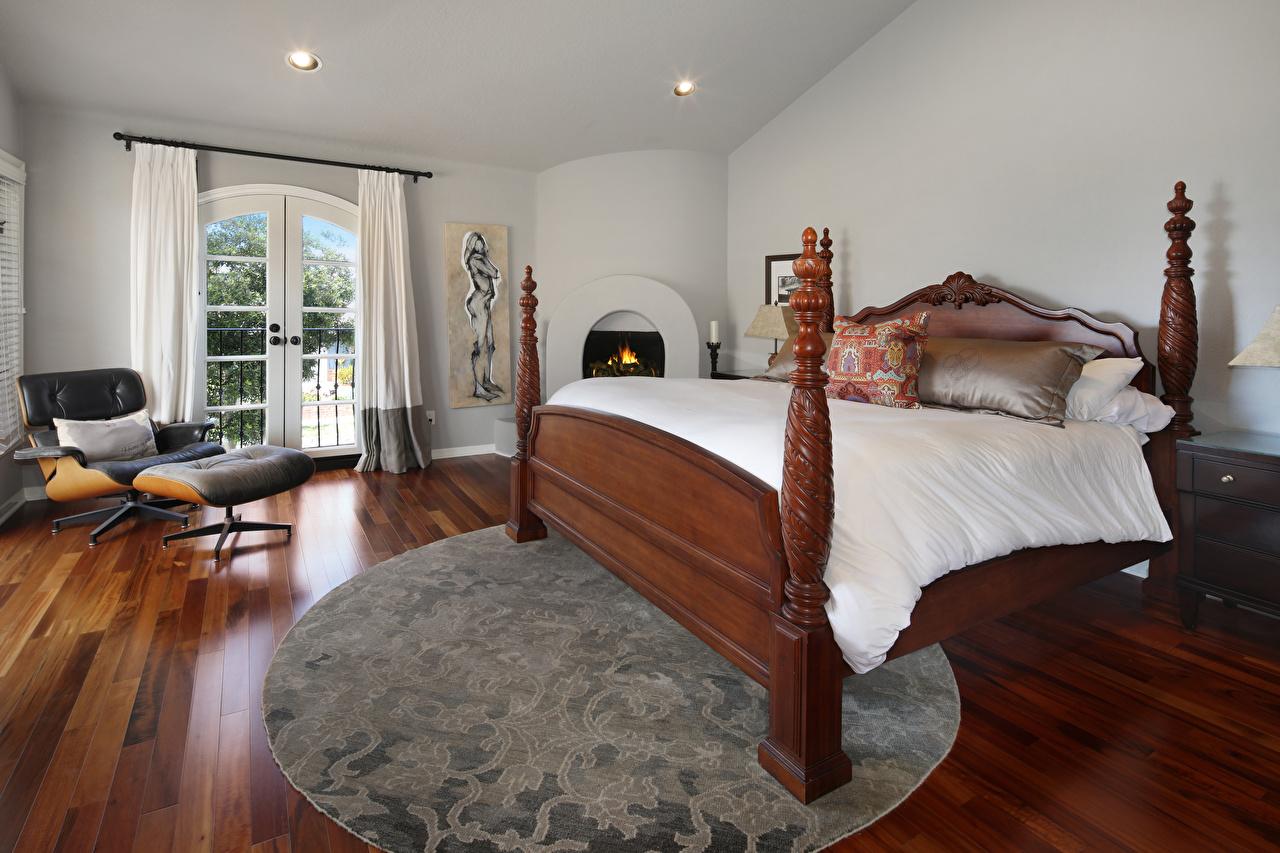 Картинка Интерьер Кресло Кровать дизайна постель кровати Дизайн