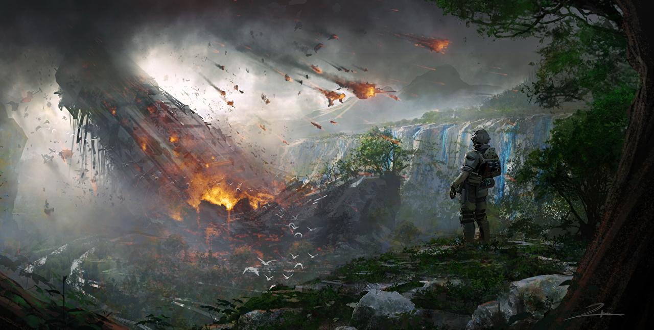 Фото Titanfall 2 воин Фэнтези Катастрофы компьютерная игра Фантастический мир воины Воители Фантастика Игры