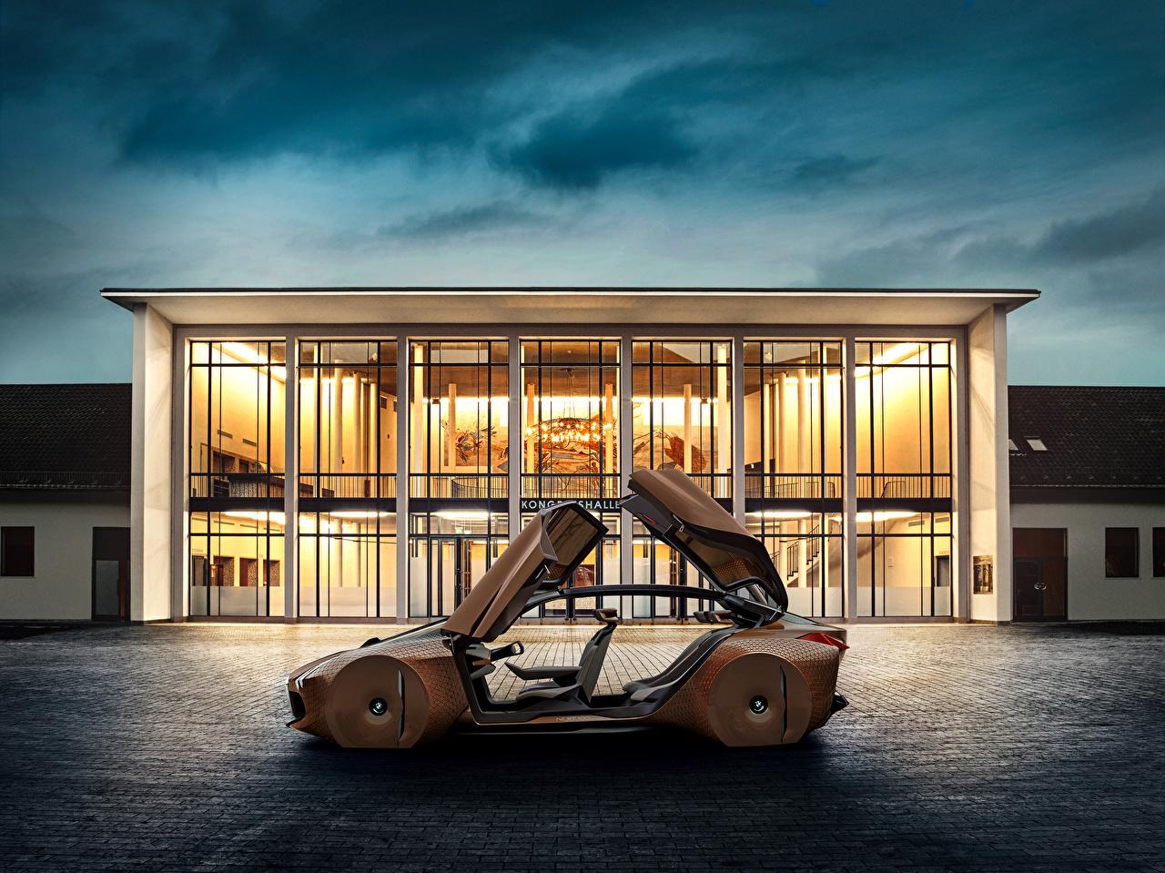 Картинка BMW 2016 Vision Next 100 коричневые Сбоку Металлик автомобиль БМВ Коричневый коричневая авто машины машина Автомобили