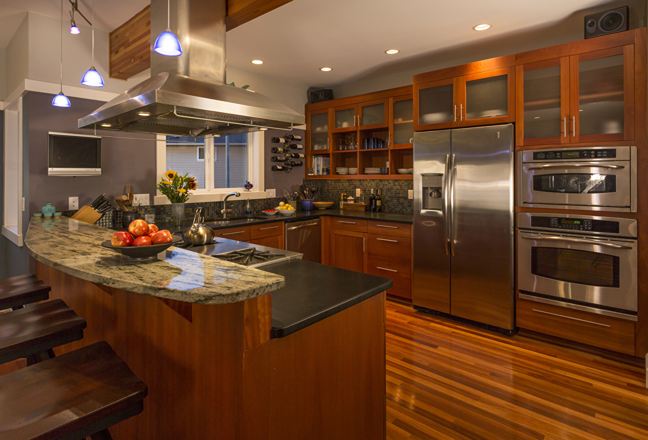 Фотография Кухня Интерьер столы Дизайн кухни Стол стола дизайна