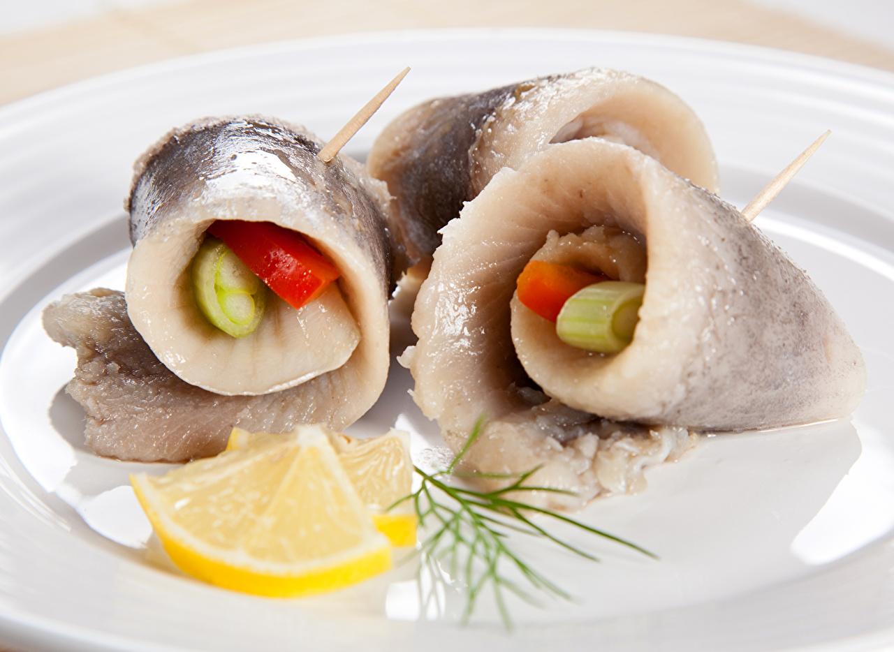 Морепродукты Рыба Лимоны  Пища, Продукты Еда