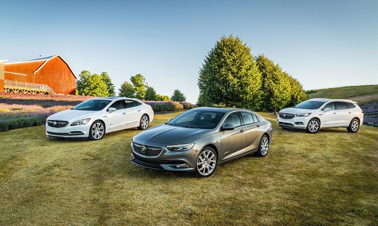 Картинка Buick Кроссовер LaCrosse, Regal, Enclave три Автомобили Бьюик CUV авто Трое 3 втроем машины машина автомобиль
