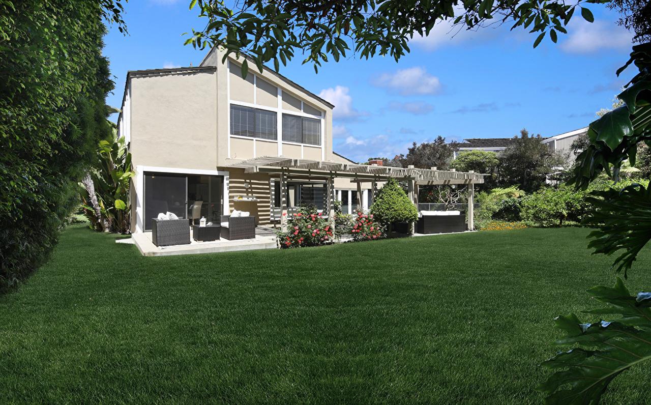 Фото Калифорния США Dana Point Особняк газоне город Здания Дизайн калифорнии штаты америка Газон Дома Города дизайна
