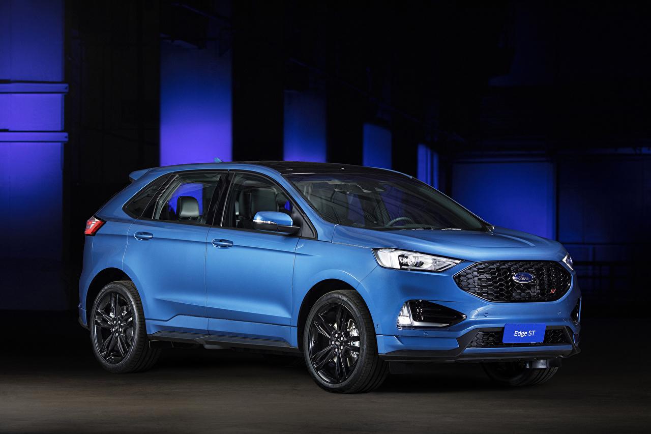 Картинка Ford 2018-19 Edge ST Latam голубых Автомобили Форд Голубой голубые голубая авто машина машины автомобиль
