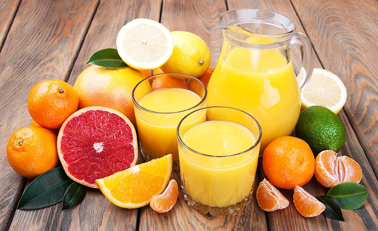 Обои для рабочего стола Сок Грейпфрут Стакан Кувшин Пища Цитрусовые стакана стакане кувшины Еда Продукты питания