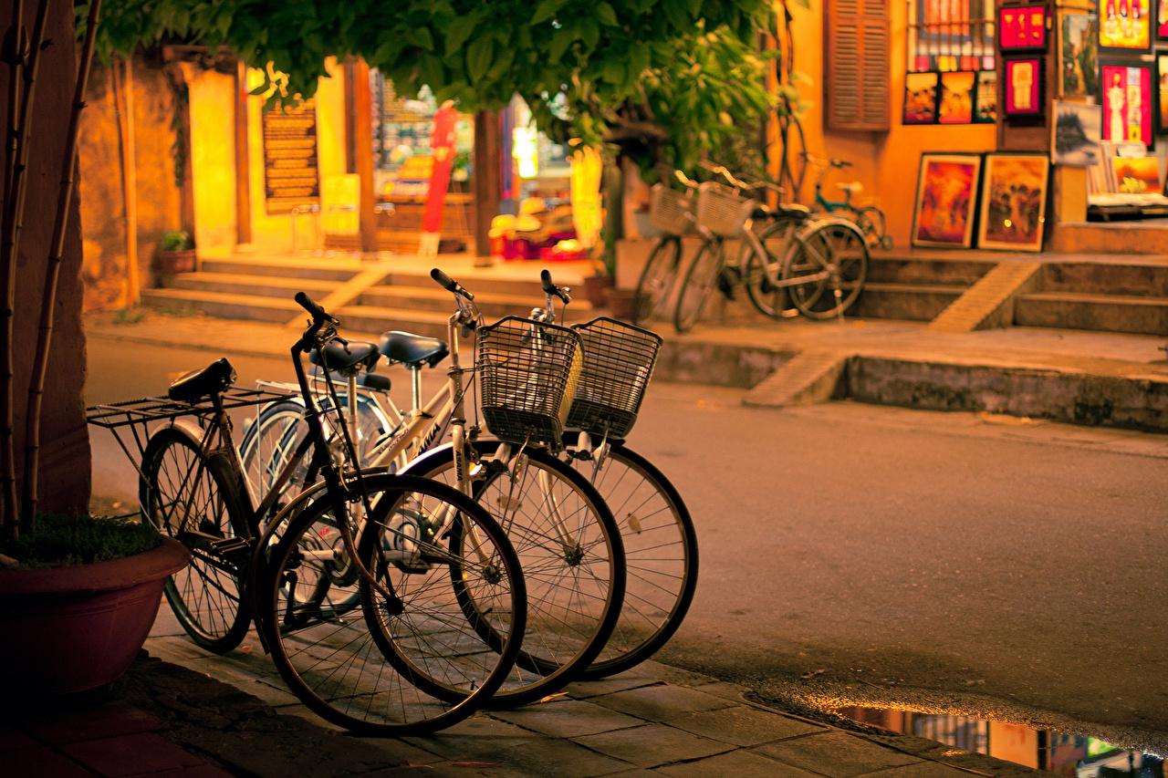 Картинка велосипеды Улица Дороги Города Велосипед велосипеде улиц улице город