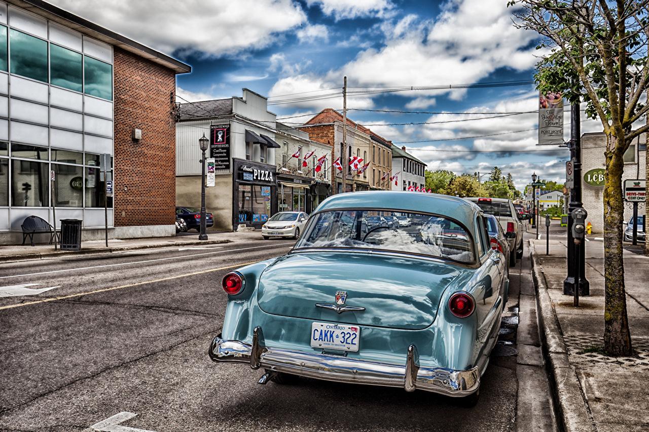 Фото Торонто Канада HDR Улица авто Дома Облака Города HDRI улиц улице машина машины Автомобили автомобиль город Здания облако облачно