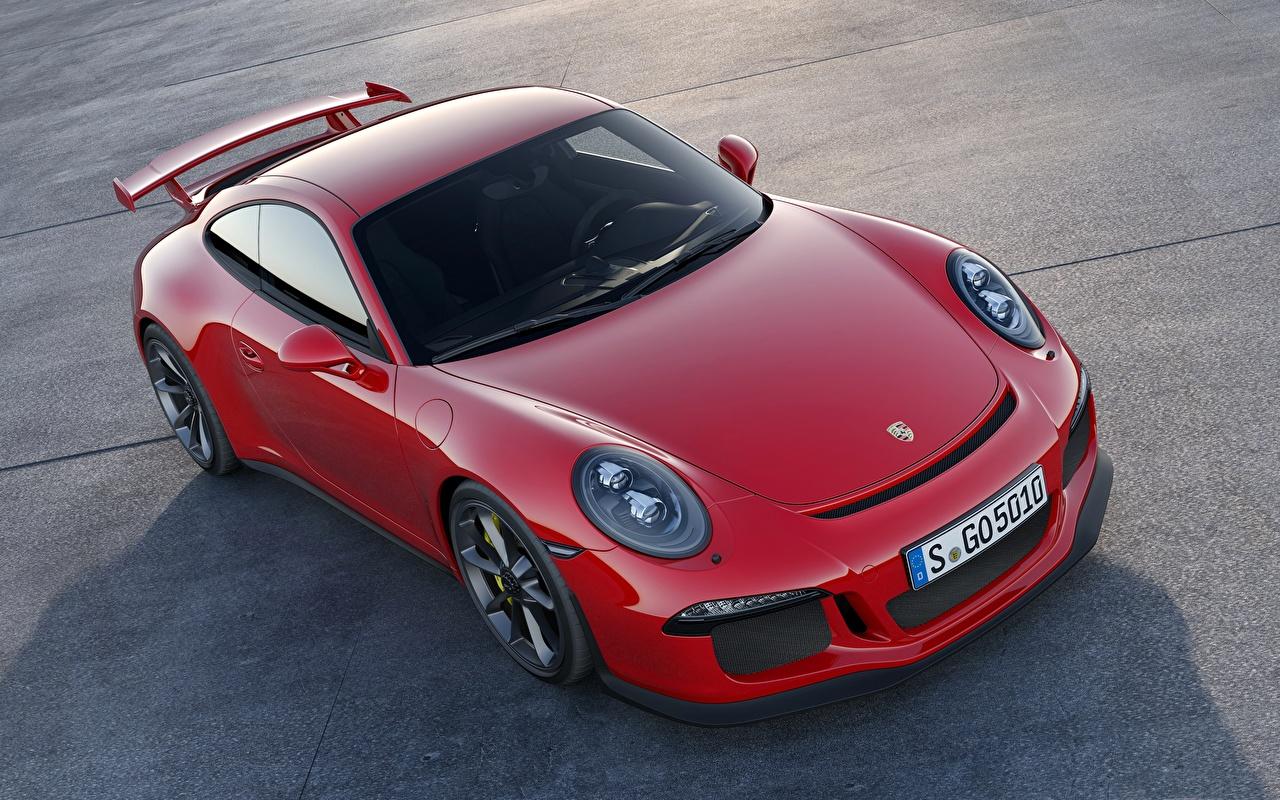 Фотографии Порше 911 GT3 Купе Красный Машины Porsche Авто Автомобили