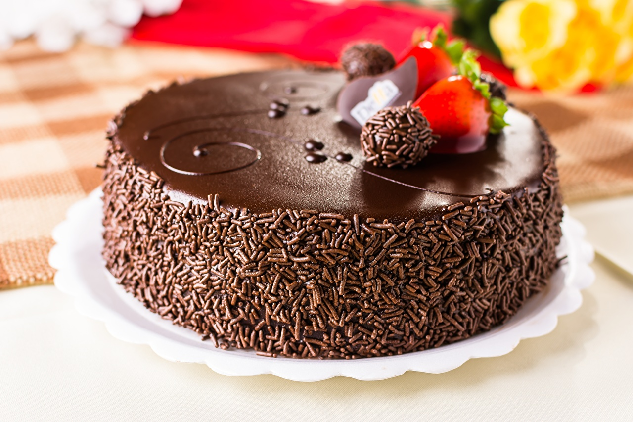 Картинки Шоколад Торты Пища Крупным планом Еда Продукты питания вблизи