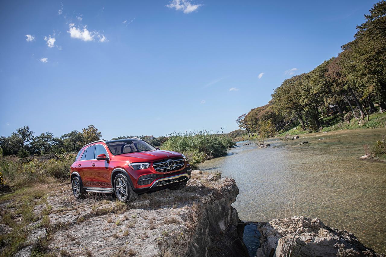 Фото Мерседес бенц Внедорожник 2020 GLE 450 4MATIC Красный Авто Mercedes-Benz SUV Машины Автомобили